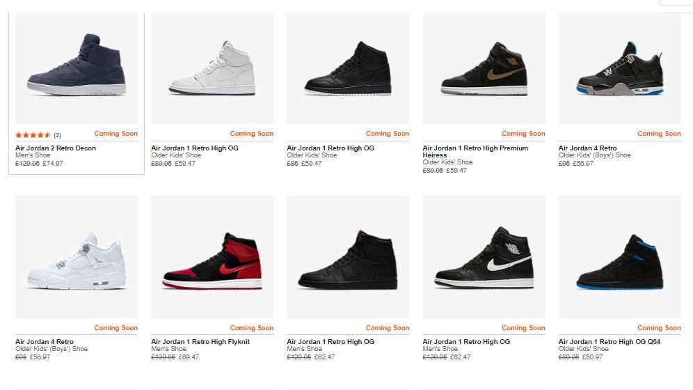 Jordan FLASH SALE live for 2-days only at Nike UK  Up to 50% off restocked  styles Shop the range here  http   bit.ly 2zFftQD pic.twitter.com uhZ2nVj0bE df93c60476af