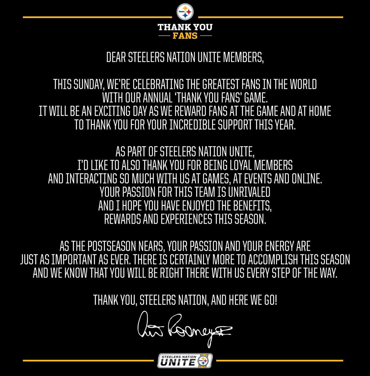 Steelersnationunite On Twitter Team President Art Rooney Ii Has A