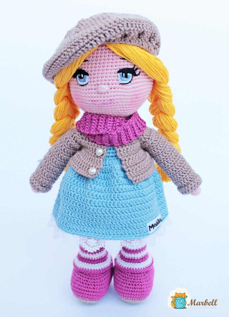 Little lady doll crochet pattern - Amigurumi Today | 1200x866