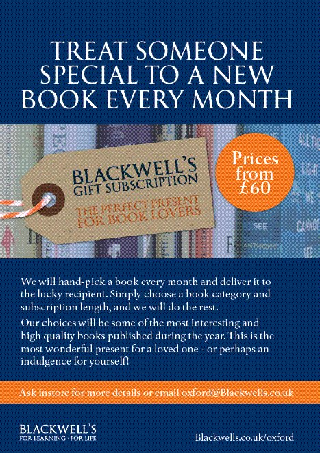 Zool verjee on twitter the blackwells book gift club isnt just its also a rather fab idea for the new year a bookish treat for yourself perhaps blackwelloxford blackwellbooks a high quality surprise book solutioingenieria Image collections