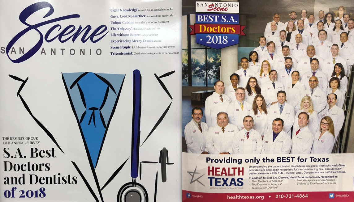 Healthtexas medical group on twitter recognized as best doctors in san antonio 2018 by the sa scene magazine were so proud of our doctors for always working hard giving compassionate care every patient every time publicscrutiny Images