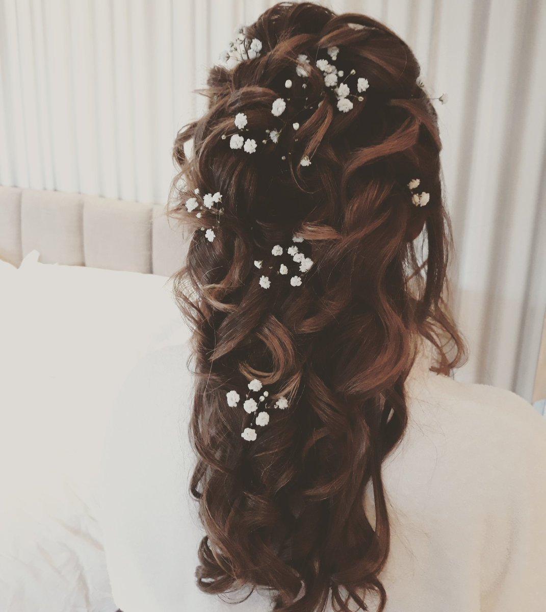 Beckies Bridal Hair On Twitter Today S Stunning Bride Suswedding Susbride Wedding Weddinghair Hairideas Halfup Curls