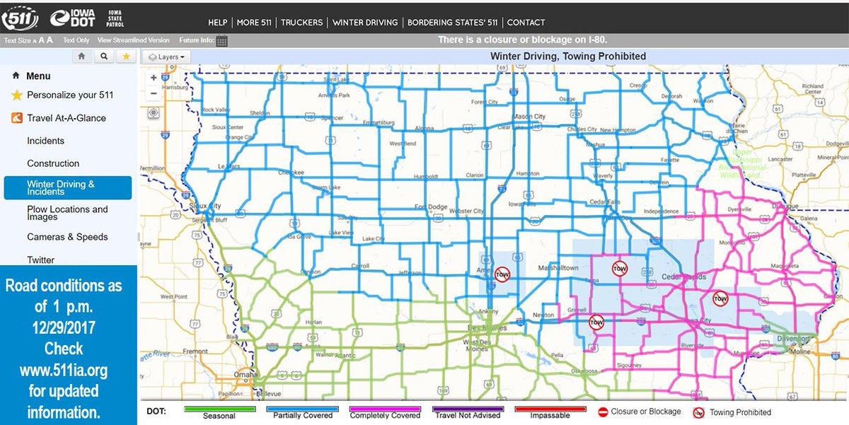 Statewide Iowa 511 on Twitter: \