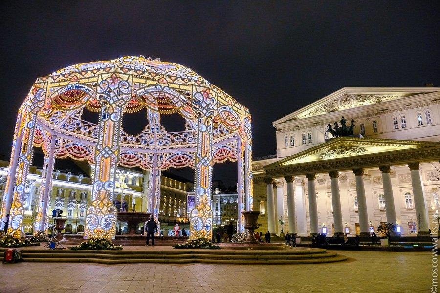 Фото новогоднее украшение большого театра