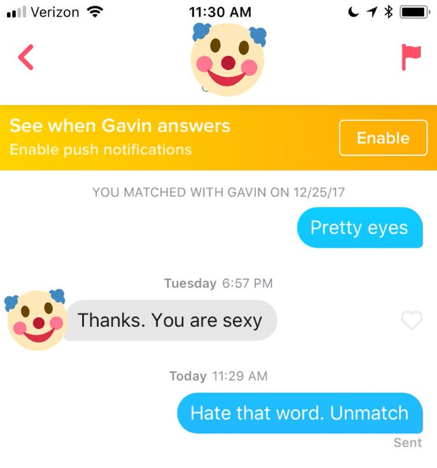 3 pic. Maybe I shouldn't open tinder before coffee.... Forever aloneeeee 🙄 https://t.co/Z0jLGQBdHu