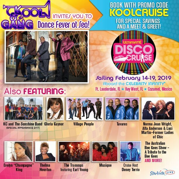 58ef240f9a2d We can t wait to recapture the disco spirit on the Ultimate Disco Cruise!  Book with the promo code KOOLCRUISE and enjoy special savings! ...