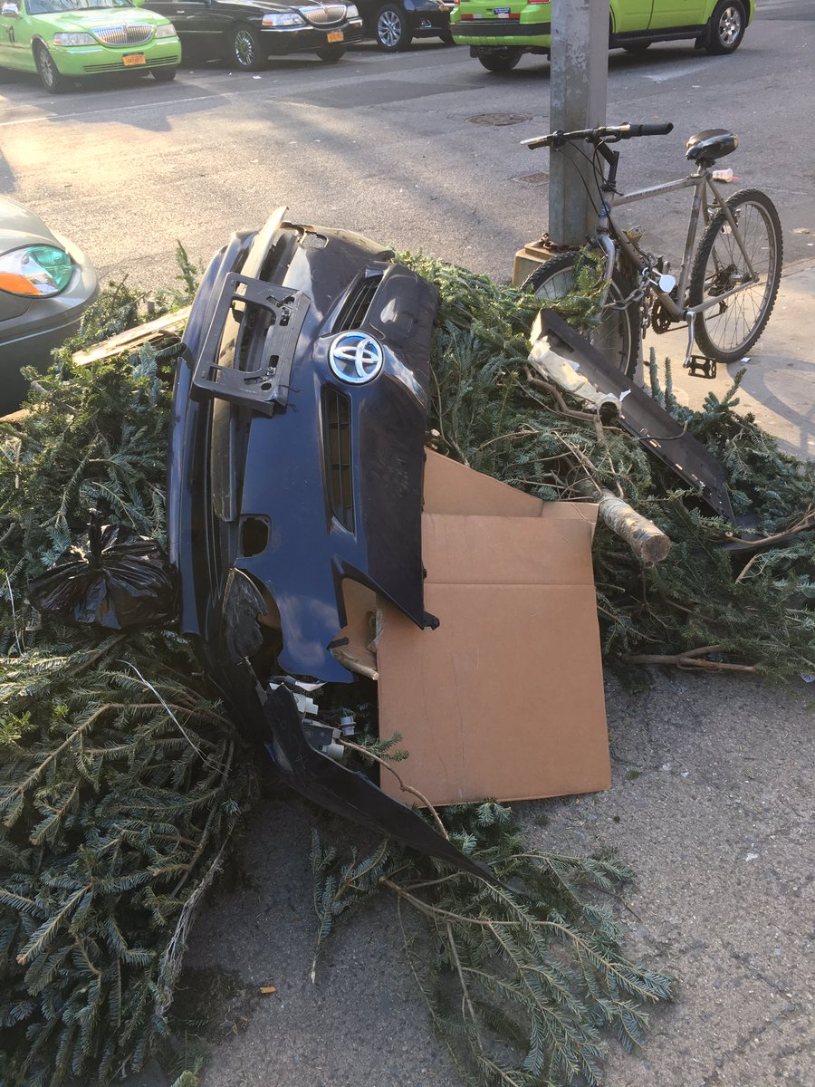 When it's after Christmas so you gotta throw out your tree and Prius