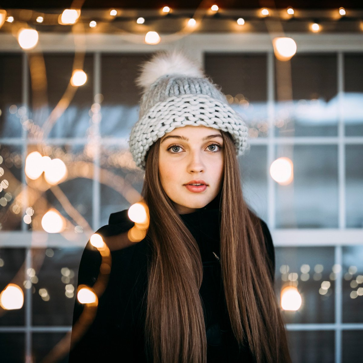 Image result for straight sleek hair winter clothes