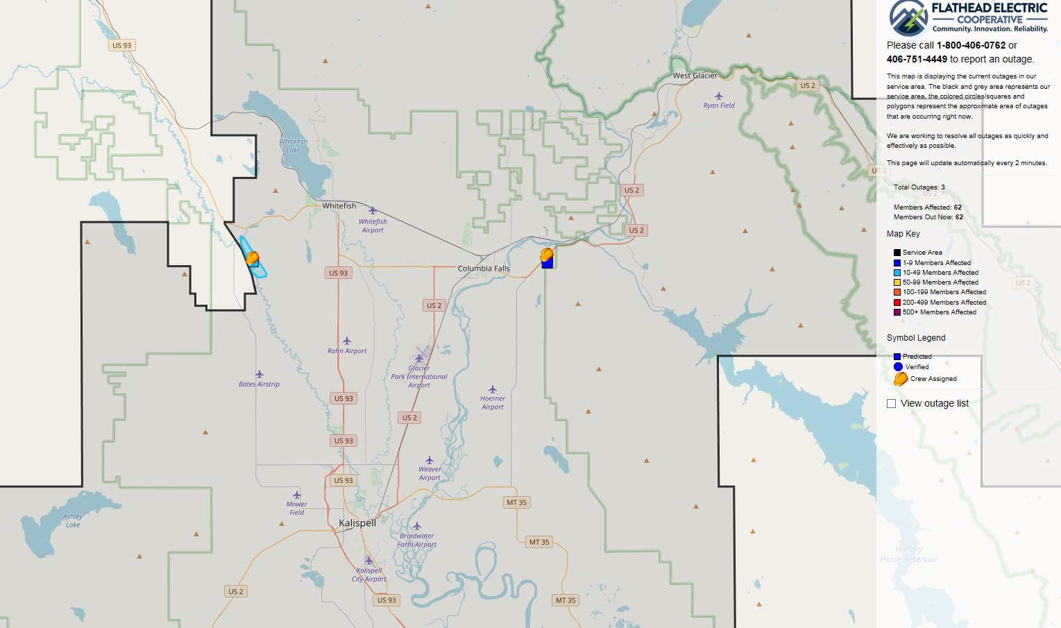 Flathead Electric Power Outage Map.Erin Yost On Twitter A Few Power Outages Around Western Montana