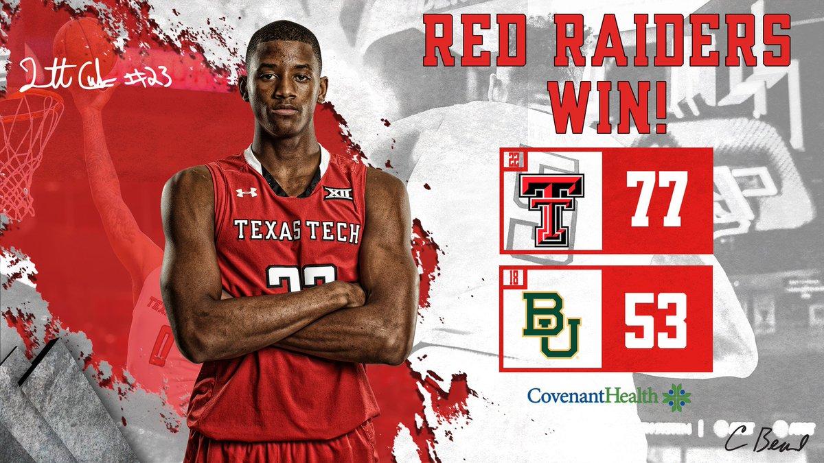 🔔RED RAIDERS WIN!🔔No. 22 Texas Tech defeats No. 18 Baylor! #WreckEm #4to1
