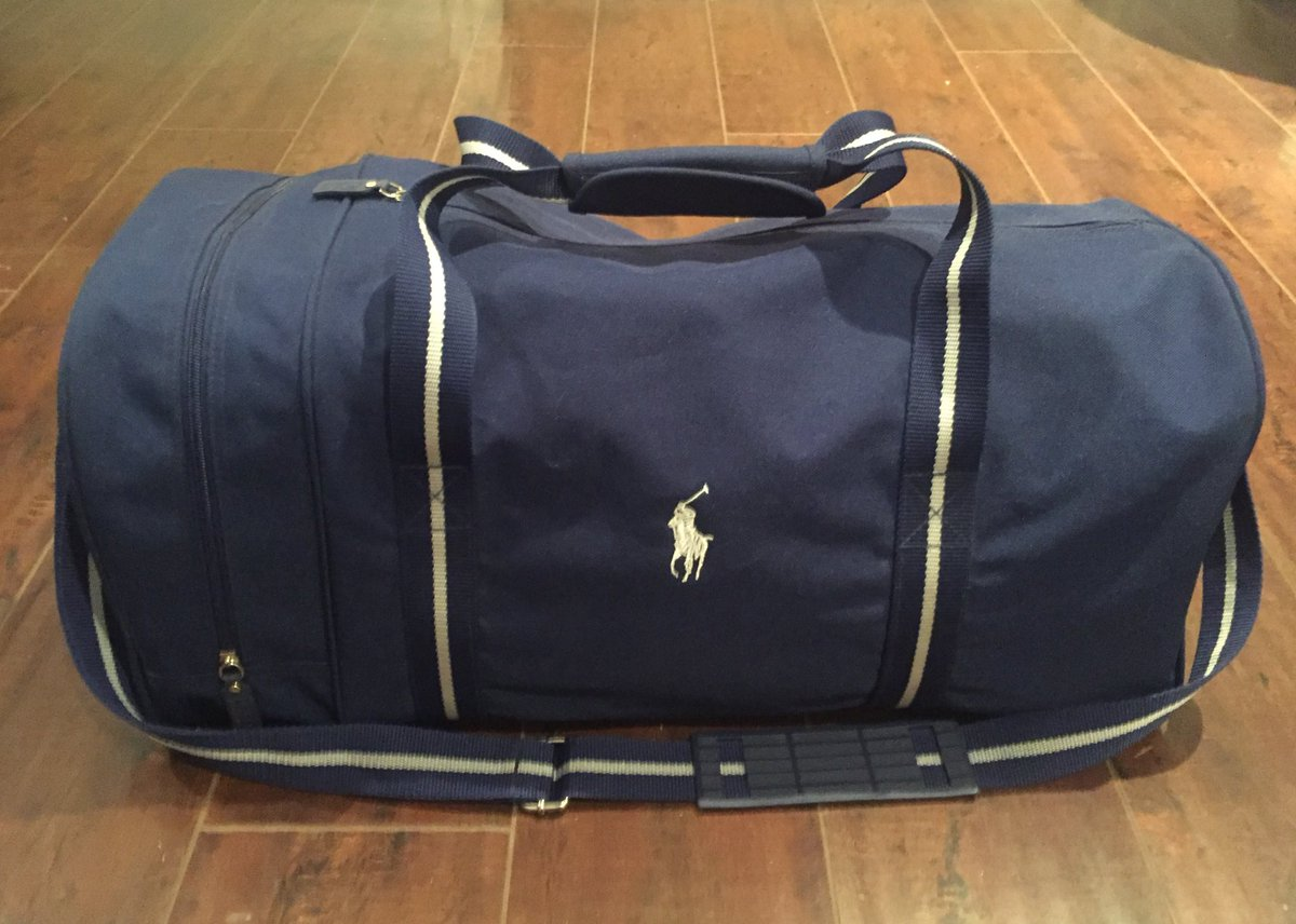 68d2807749ba Selling this vintage Polo Ralph Lauren duffle bag. Travel size and perfect  for the airport flex ✈  50 or best offer. Dm me  (- pic.twitter.com IQGW1bDOkz
