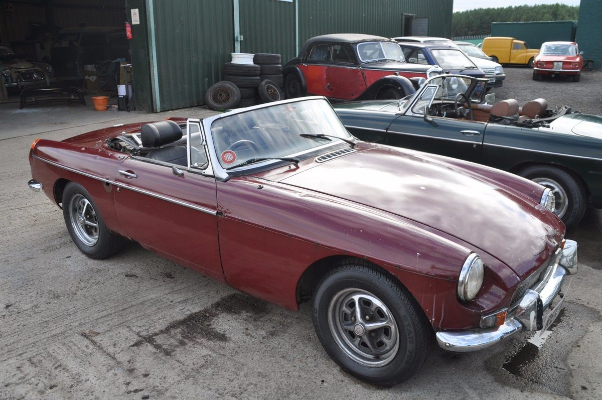 Uk Classic Cars On Twitter Ebay 1973 Mg Mgb Chrome Bumper Roadster Tax Exempt Damask Red Overdrive Project V5 Https T Co O7dj7fnsgn Classiccars Cars Https T Co Aj4ofd9noh