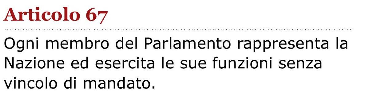 """Il 5 Stelle vuole imporre multe da 100 mila euro ai parlamentari """"voltagabbana"""". C'è un piccolo problema. L'art 67 della costituzione-più-bella-del-mondo prevede che ogni parlamentare è eletto senza vincolo di mandato. L'idea grillina non è solo anti costituzionale: è eversiva."""
