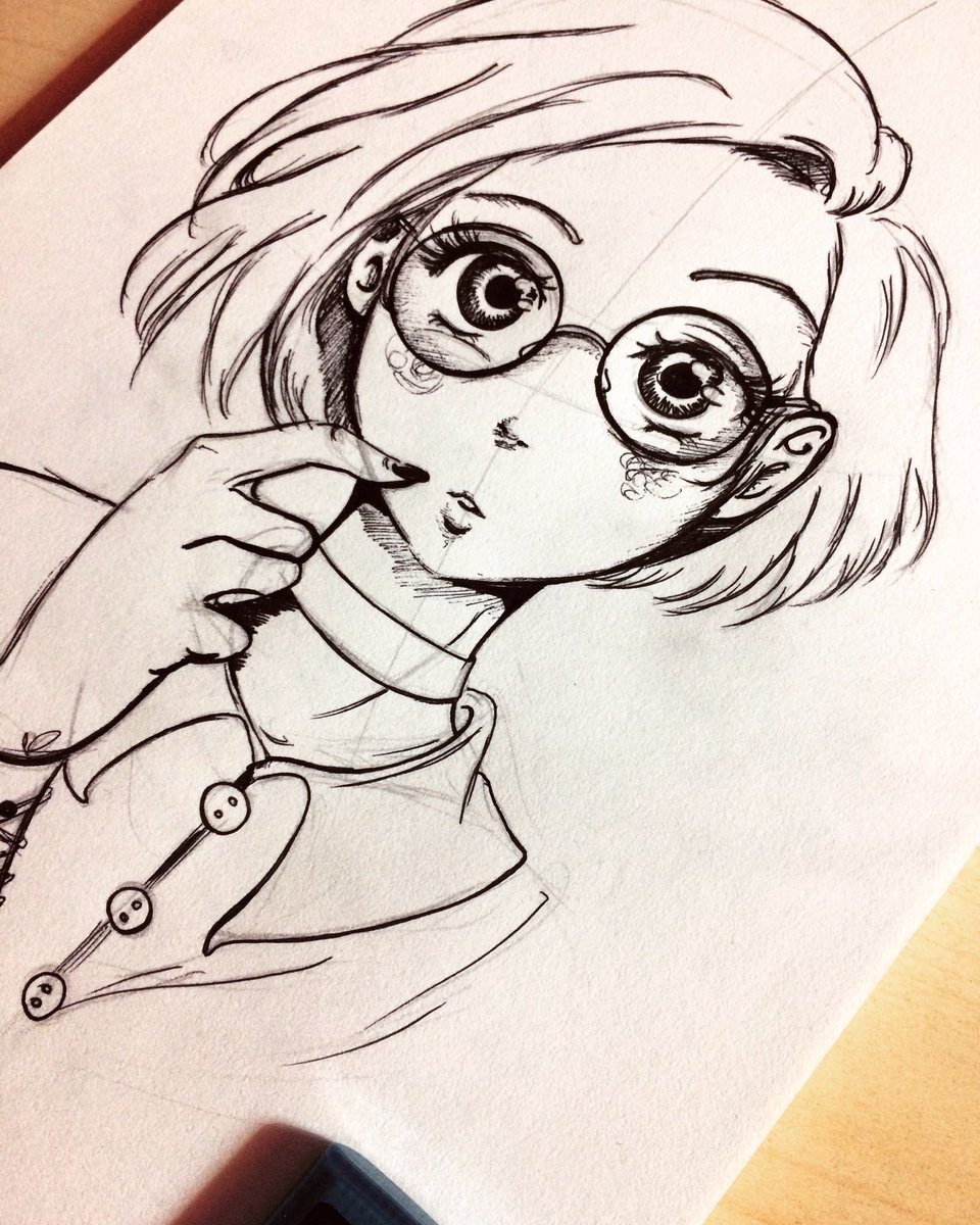 Anime art nerd girl Top 10