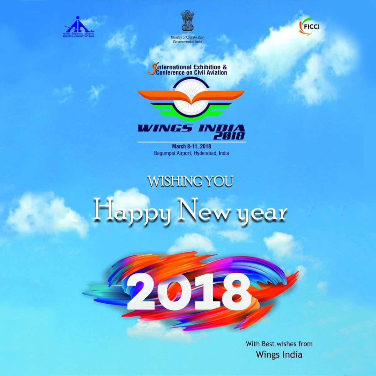 wings india 2018 on twitter wings india 2018 wishes all a very happy new year as indian aviation looks to fly higher into brighter skies