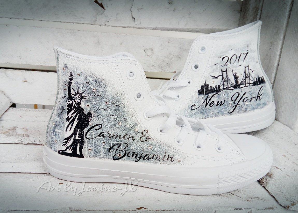 Art By Janine Jk On Twitter Weddingshoes Wedding Chucks Bride