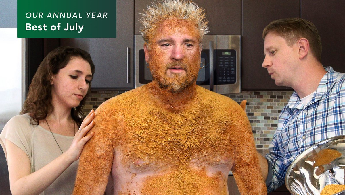 Food Network Production Assistants Prep Guy Fieri With Dry Rub https://trib.al/NjiPjLh  #OurAnnualYear