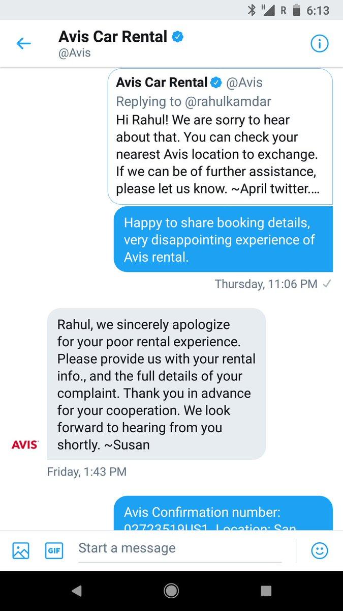 Uzivatel Avis Car Rental Na Twitteru Hi Rahul You Will