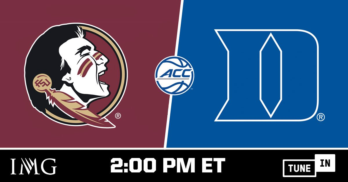 ab5412273ce ... play today against #3 Duke at 2pm ET. Game broadcast is available for  FREE on the @TuneIn app: http://listen.tunein.com/fsu pic.twitter .com/GGYaU75bgQ