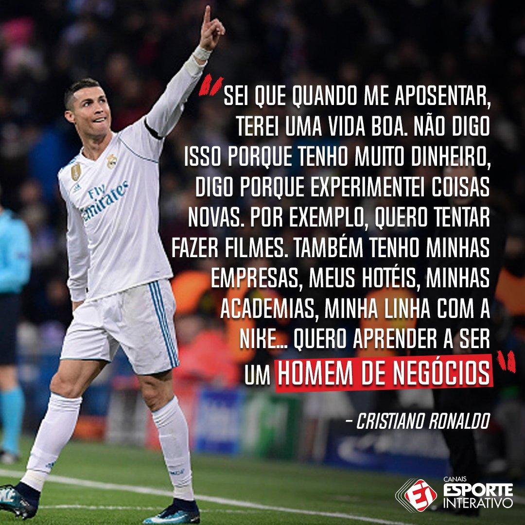 Cristiano Ronaldo homem de negócios? 👔