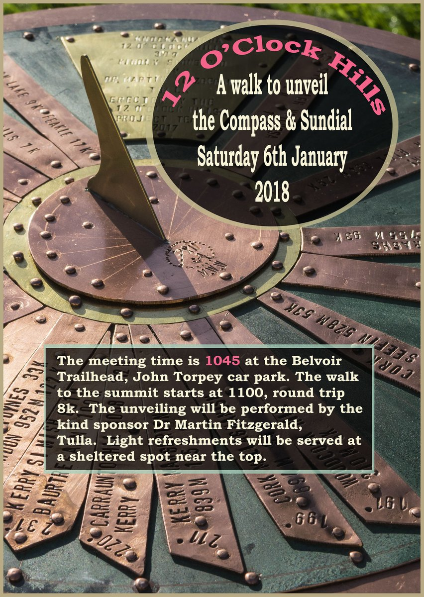 12 oclock hills on twitter invitation to our sundial compass 1104 am 30 dec 2017 stopboris Gallery