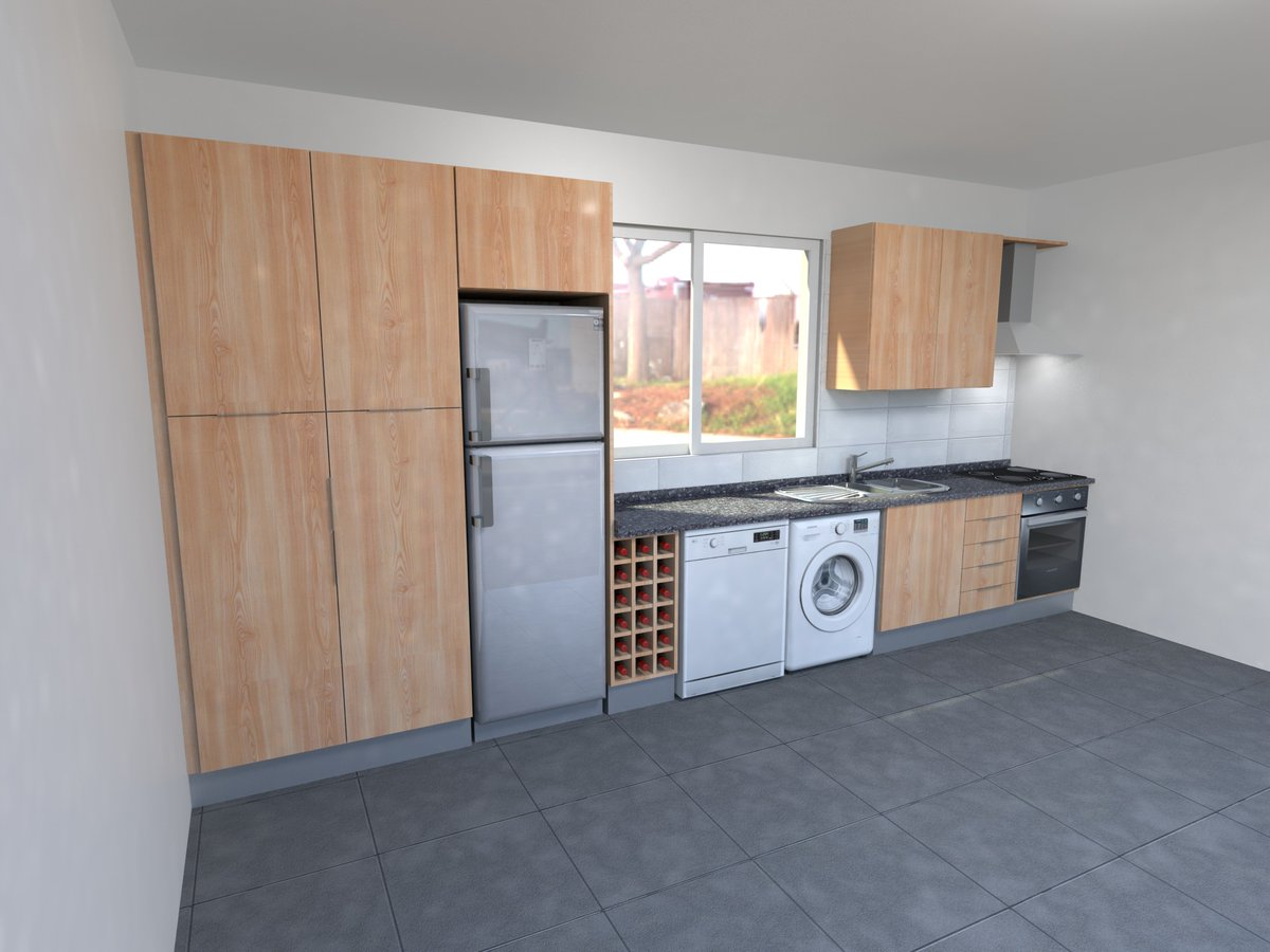 Ana Martins On Twitter Simple Kitchen 3dmodeling 3ddesign