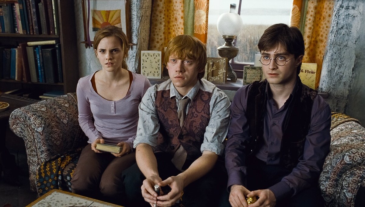 """Freeform on Twitter: """"The sword of Gryffindor can't just be given, but  Dumbledore is giving the golden trio some major clues. #HarryPotterWeekend  #DeathlyHallows Part 1… <a target="""