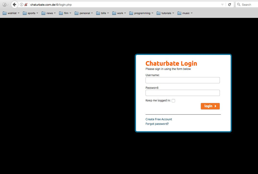 Chaturbate account password