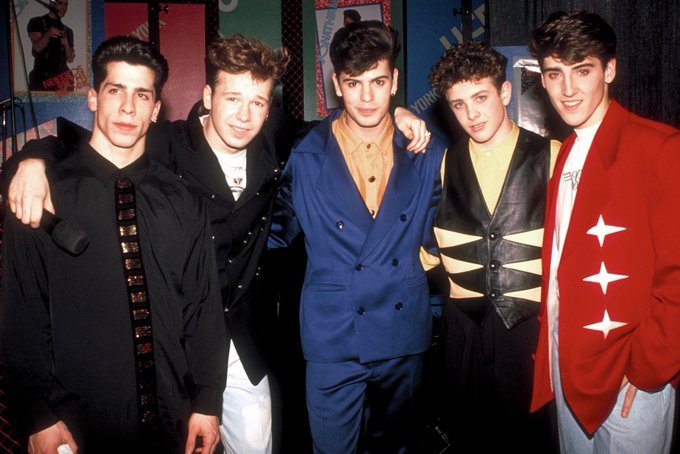 Happy Birthday to Joey McIntyre(second to right) who turns 45 today!