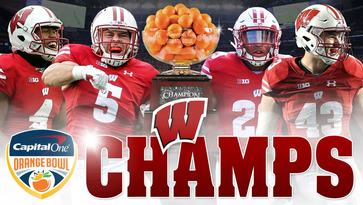 ORANGE BOWL CHAMPS! ????  #OnWisconsin || #Badgers https://t.co/5Xf1aFJtMO