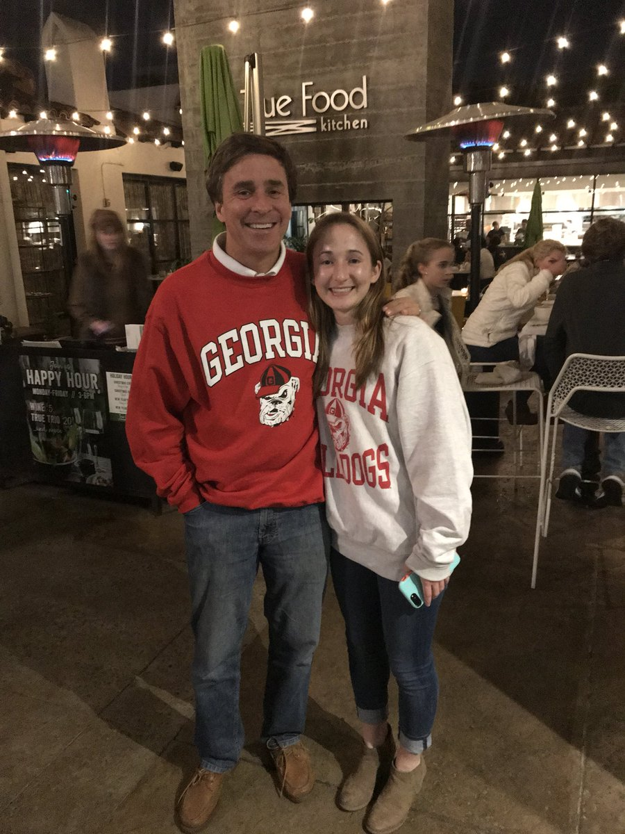 Charlie and Kay Crawford at True Food in Pasadena, California are ready to cheer on the Bulldogs in the Rose Bowl on Monday.