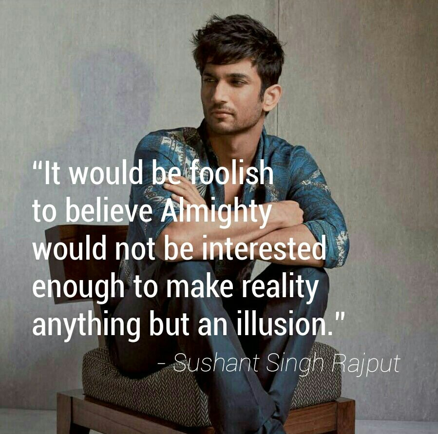 """Sushant Quotes on Twitter: """"Sushant Singh Rajput Quote of the Day ..."""