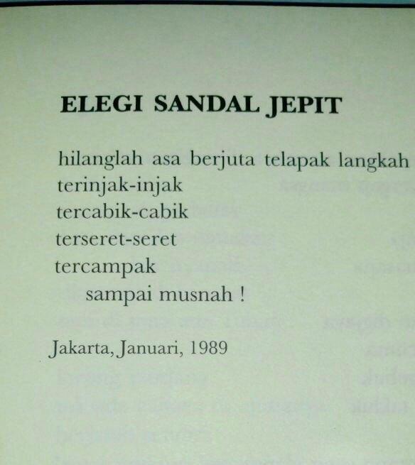 Jenis Puisi Elegi Jakarta