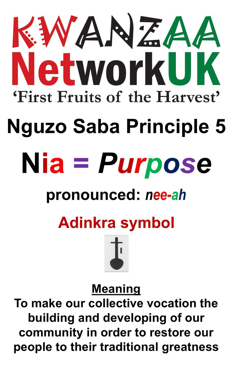 Africanheritagenetlu On Twitter Yesterday Kwanzaa Principle 5 Nia