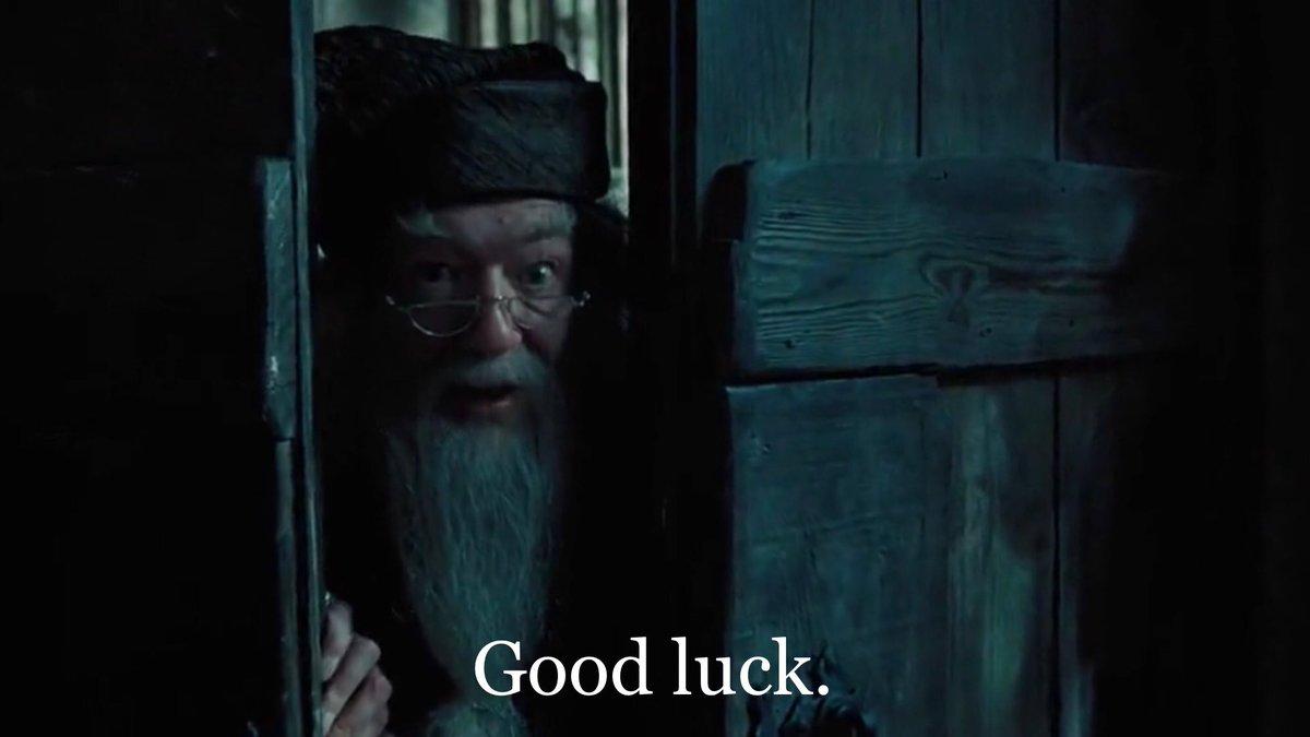 luke cutforth s tweet if you start watching harry potter and the prisoner of azkaban at 101228 pm tonight dumbledore will wish you good luck