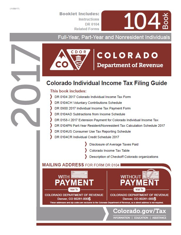 Income Tax Pro On Twitter Colorado Individual Income Tax Forms For