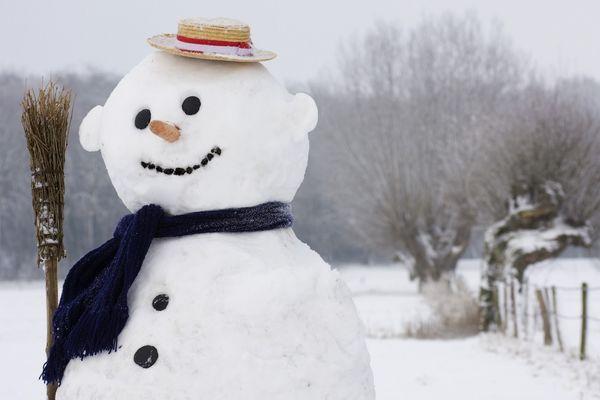 Снеговик зима шарф без смс