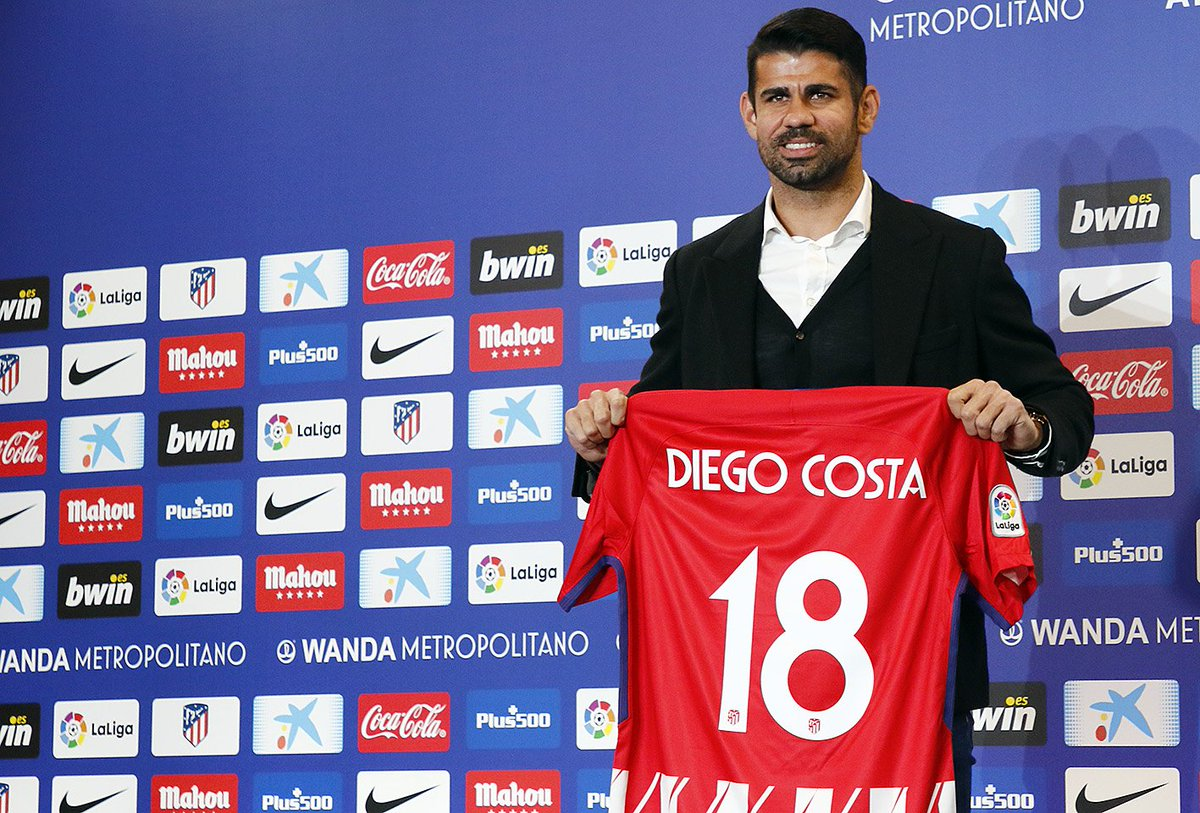 «Атлетико» представил Витоло иДиего Косту