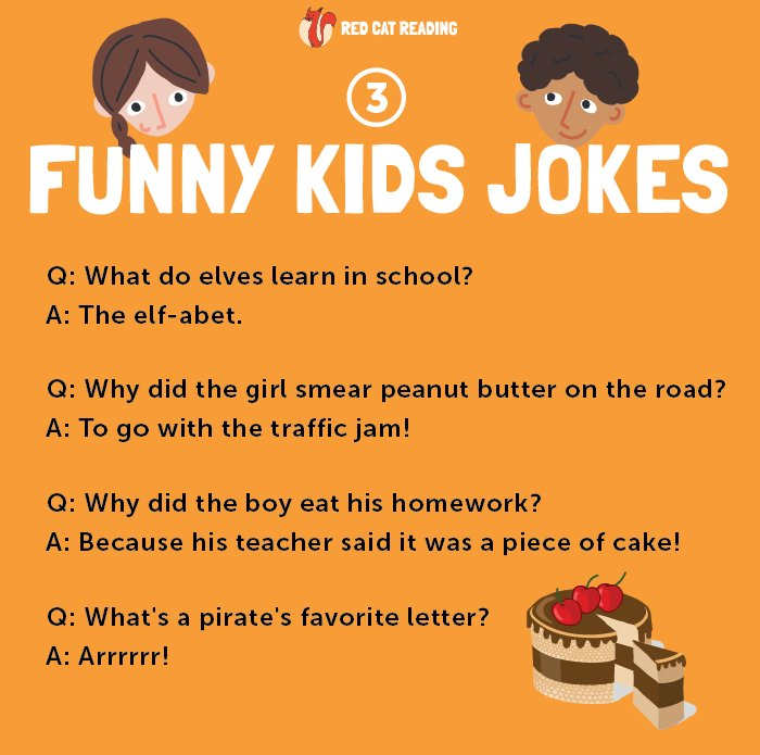 "Red Cat Reading on Twitter: ""🤣 More funny kids jokes for ..."
