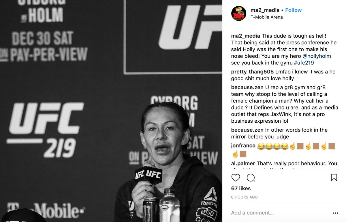 "DSY7MvkUMAAdjg3 With gym on 20 fight losing streak, Jackson-Wink MMA  employee repeatedly calls Cris Cyborg ""he"""