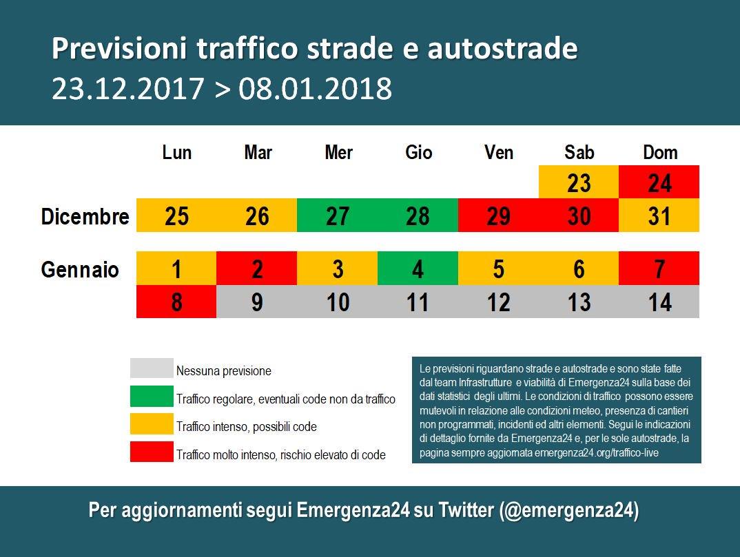 Calendario Traffico Autostrade.Emergenza24 On Twitter 31 12 13 40 Italia Previsioni