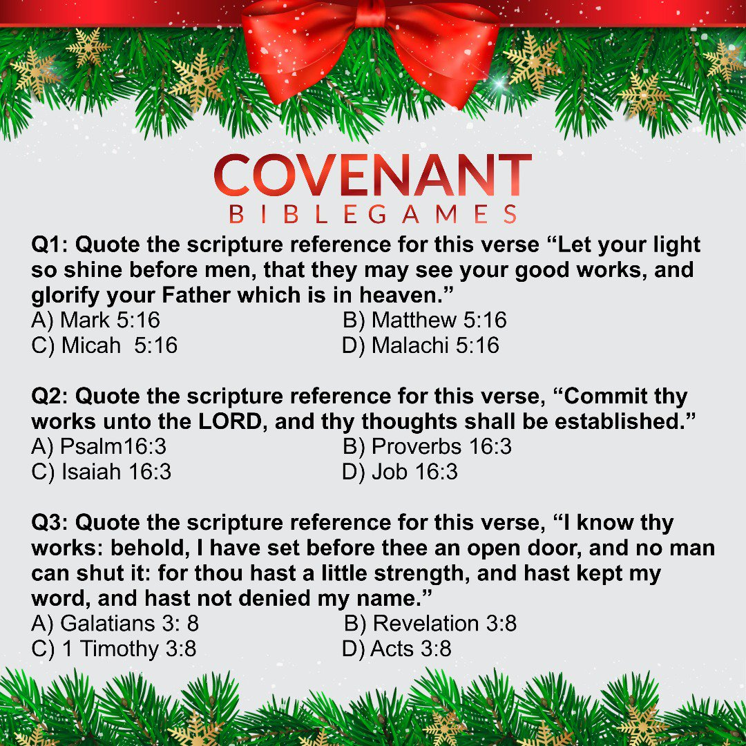 Christmas Bible Trivia.Covenant C Centre A Twitter The Graphic Details Of Our