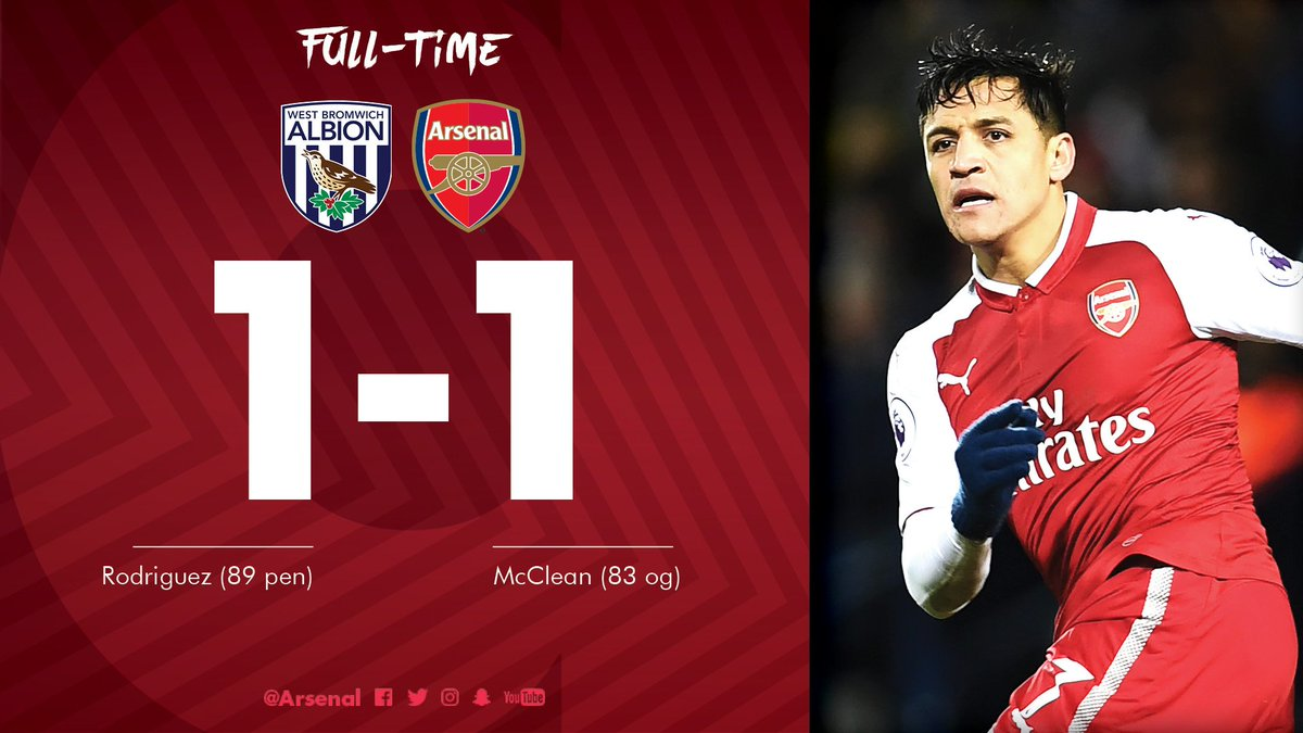 Chấm điểm trận West Brom 1-1 Arsenal