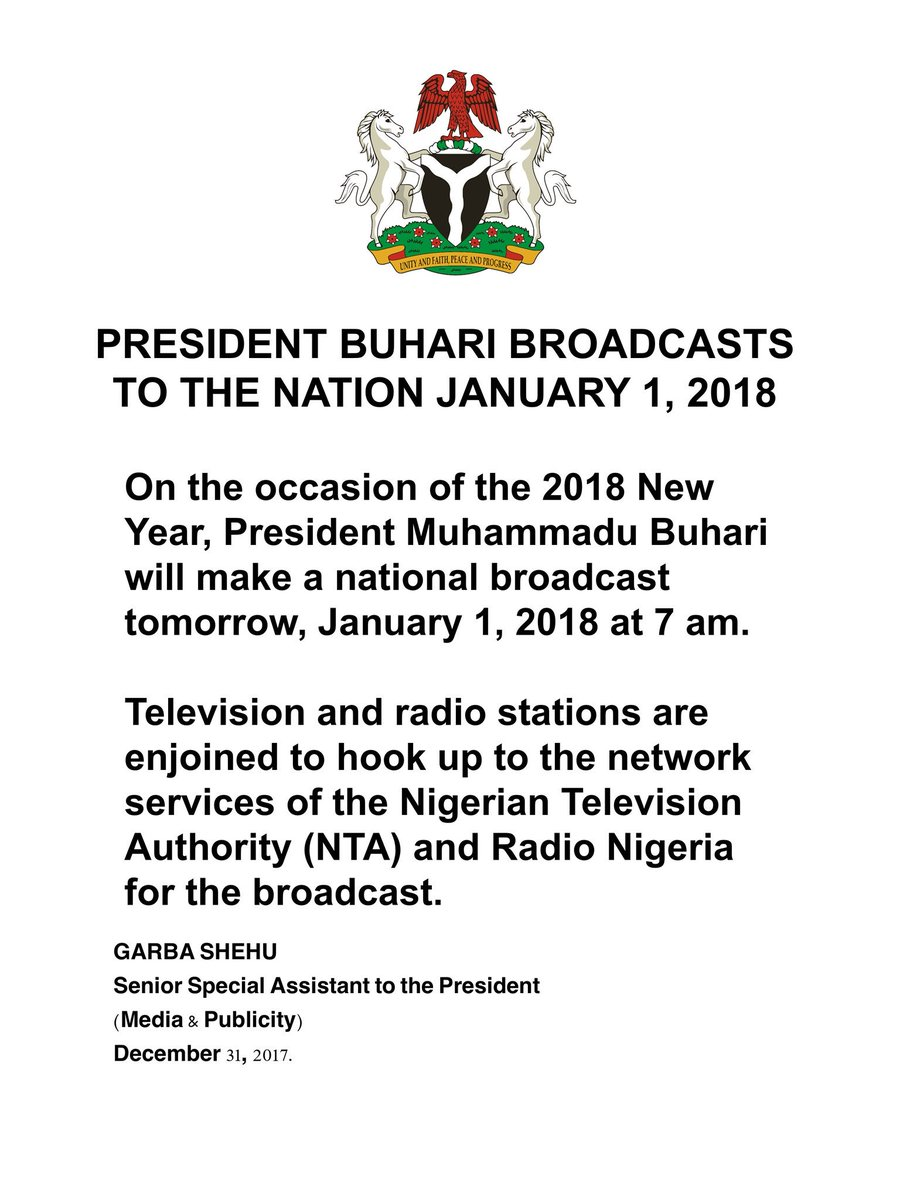 Government Of Nigeria On Twitter On The Occasion Of The 2018 New