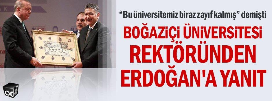 Boğaziçi Üniversitesi rektöründen Erdoğana yanıt... odatv.com/bogazici-unive…