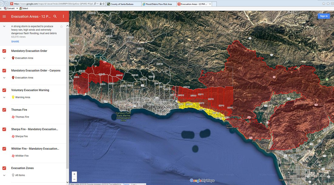 Santa Barbara County on Twitter Evacuations have been issued for