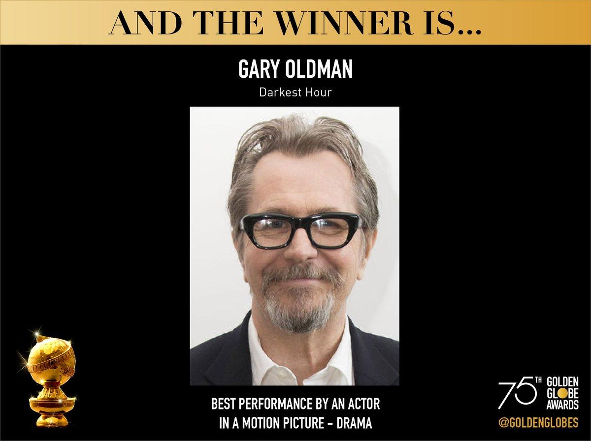 Гэри Олдман выиграл «Золотой глобус» в номинации «Лучший актер драматического фильма»
