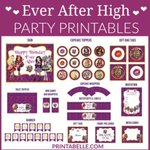 Ever After High Party Printables https://t.co/ZvwEnmLs6P