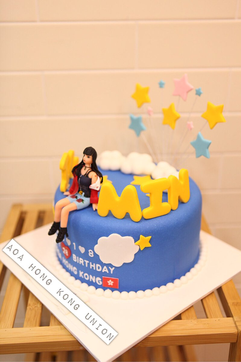AOA HONG KONG UNION On Twitter Our Birthday Cake To Jimin Has Been Successfully Delivered Her HappyJiMinDay JiMinDay