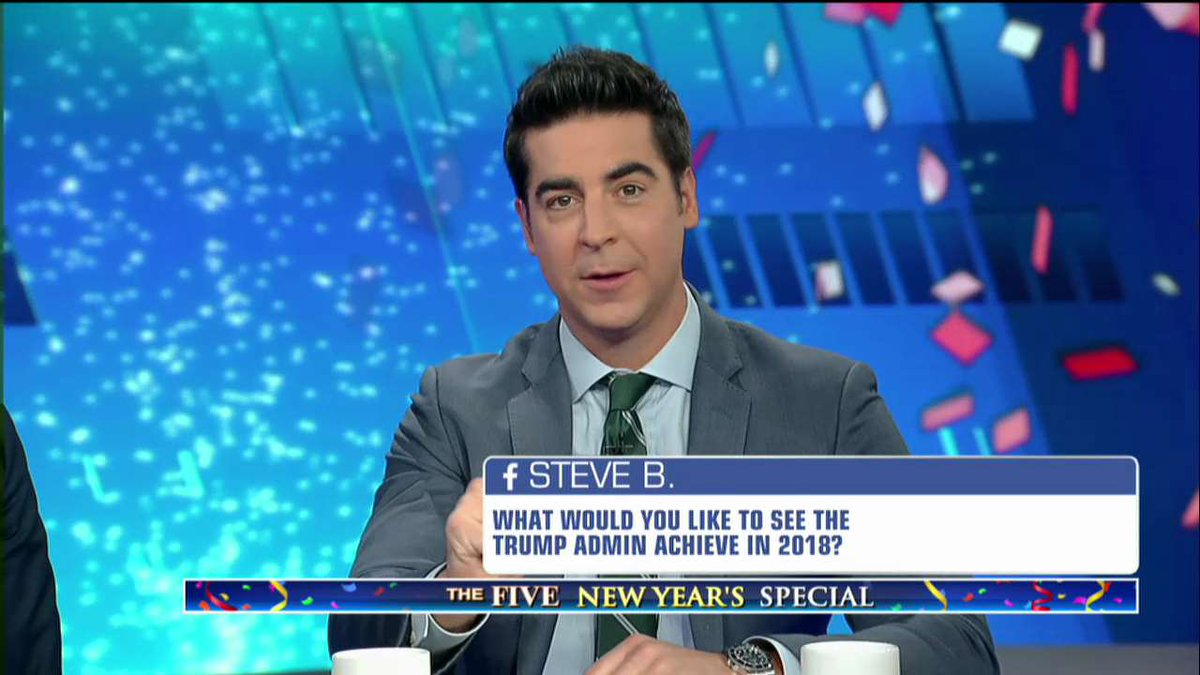 .@JesseBWatters: 'I'd like to see the wall built in 2018, or at least begun.' #TheFive